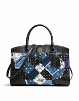 COACH Canyon Quilt Denim Mercer Satchel