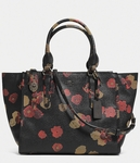 COACH CROSBY CARRYALL IN FLORAL PRINT LEATHER - 3.25