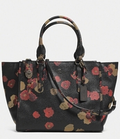 COACH CROSBY CARRYALL IN FLORAL PRINT LEATHER