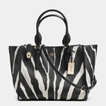 Coach CROSBY carryall in zebra print leather