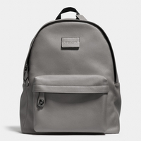 Gray Campus Backpack In Refined Pebble Leather