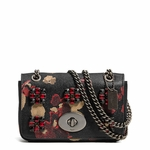 COACH  Mini Chain Crossbody In Jeweled Floral Print Leather