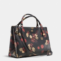 Multicolor Turnlock Borough Bag in Floral Print Leather
