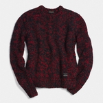 Coach Red Cashmere Tweed Crewneck Sweater