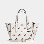 Coach White Crosby Mini Carryall In Printed Crossgrain Leather