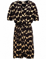 Crepe Genevieve Wrap Dress