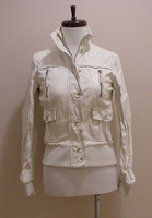 Crinkled Faux PU Leather Jacket (On Sale)
