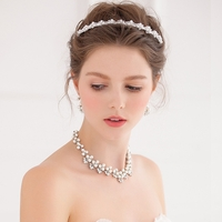 Crystal and Pearl Encrusted Headband Set FF6005