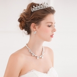 Crystal and Pearl Encrusted Tiara Set FF6002