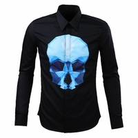 Crystal Skull Printed Dress Shirt