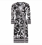 Diane von Furstenberg Black Tallulah Two Silk Jersey Wrap Dress