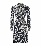 DIANE VON FURSTENBERG Blue Gracelyn Silk Jersey Dress