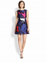 Diane von Furstenberg Blue Yvette Cotton/Silk Dress