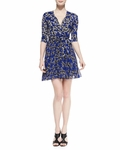 Diane von Furstenberg Irina Star-Print Wrap Dress