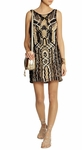 DIANE VON FURSTENBERG Neapoli metallic macrame mini dress