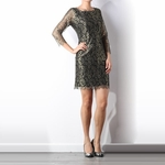 Zarita Metallic Lace Dress