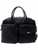 Black Pocketed Travel Bag