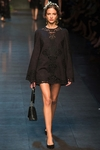 Black Laced Mini Dress Spring 2014 RTW