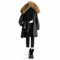 Down Hooded Padded Coat