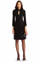 DVF China Short Wool Wrap Dress