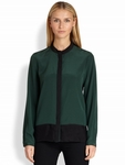 Elie Tahari Mona Colorblock Silk Blouse