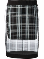 Black Iona Plaid Skirt