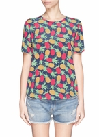 Equipment 'Riley' Pineapple Print T-Shirt