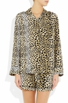 Equipment Animal Lilian Leopardprint Washedsilk PJ Top