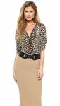 Equipment Beige Brett Leopard Shirt