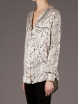 Equipment Keira Fawn Python Print Shirt