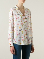 EQUIPMENT mushroom print shirt