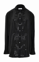 Equipment Reese Embroidered Washed-silk Shirt