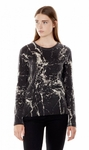 Equipment 'Sloane' Marble Print Crewneck Cashmere Sweater - 8.30