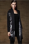 Wool Drape-Front Leopard Cardigan - Exclusive