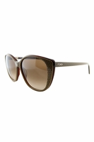 Fendi Jacquelyn Cat Eye Sunglasses In Brown & Cream