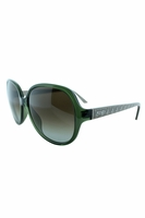 Fendi Kathleen Oval Sunglasses In Green