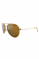 Fendi Michele Aviators In Gold & Yellow