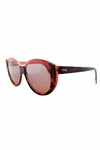 Fendi Silvia Sunglasses In Havana & Coral