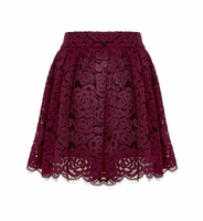 Fizer Pleated Lace Skirt