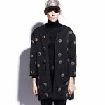 Floral Embroidered Oversize Coat