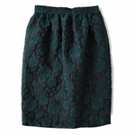 Floral-Jacquard Mid Skirt