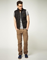 G-Star raw mens arctic quilted vest in raven black