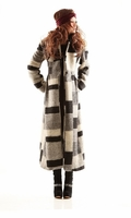 Geometric Patterns Woolen Long Coat