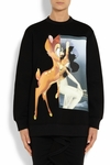 Black Bambi Antigona Deer Printed Neoprene Sweatshirt