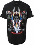 Black Racing Car Print Tshirt