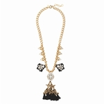 Gold Crystal Fiesta Necklace - 3.26