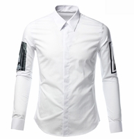 Graphic Arm Patch Detailed Shirt