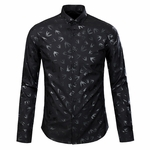 Graphic Swallowprint Cotton Shirt