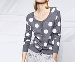 Gray Polka Dot Cardigan