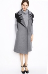 Gray Selvi Sleeveless Coat